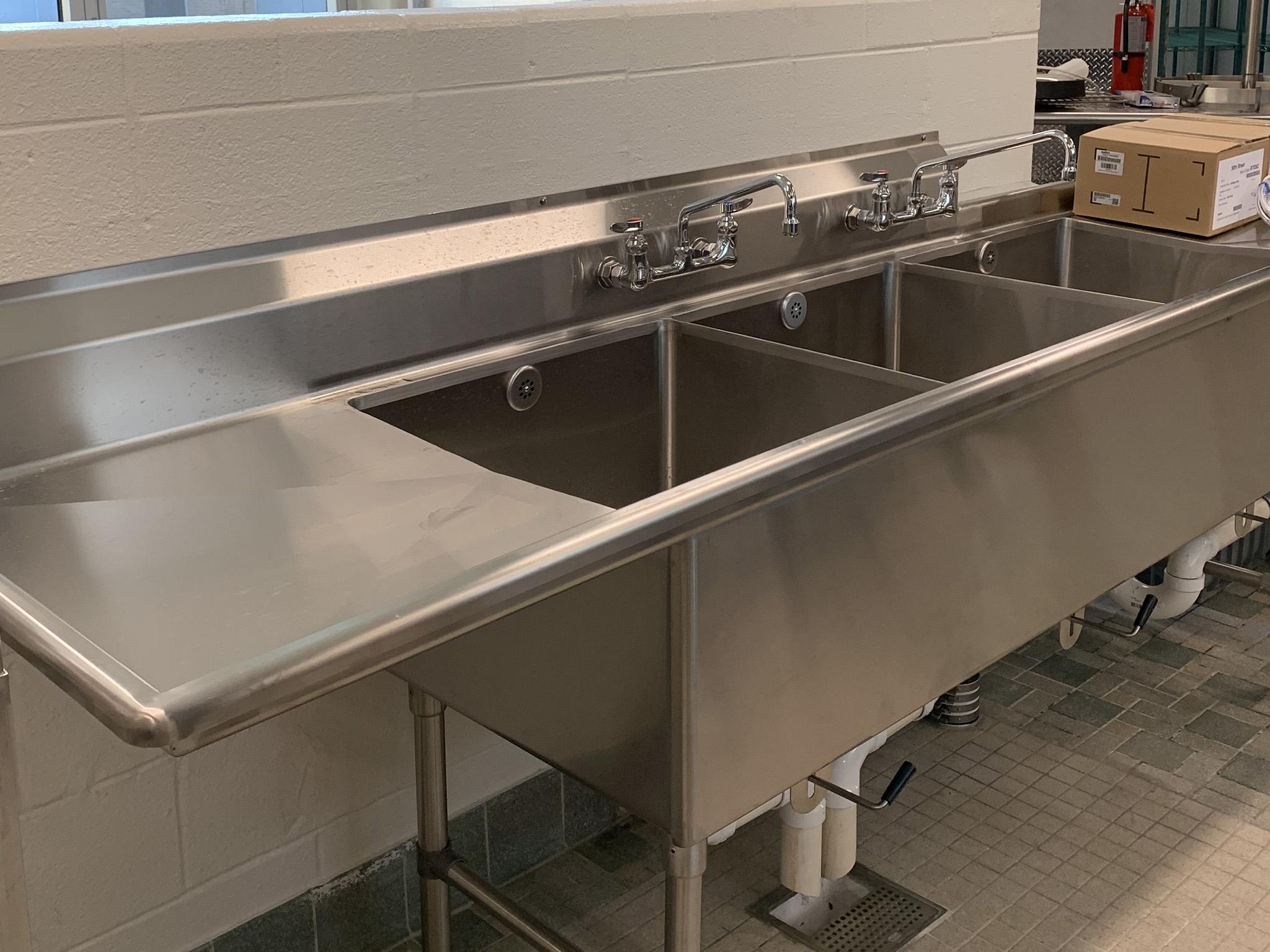 Three Compartment Sink Commercial Kitchen Kenowa Michigan
